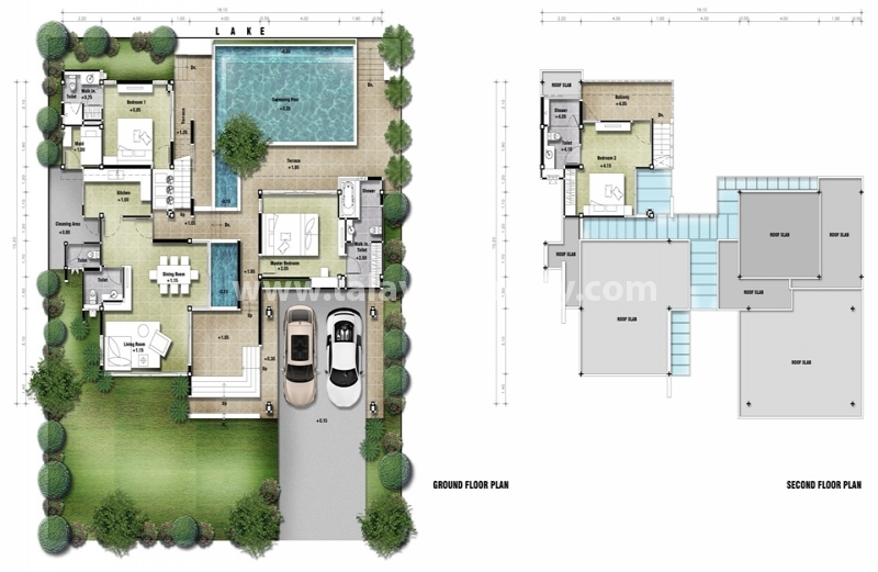 Pin plan villa moderne genuardis portal on pinterest for Villa moderne plan