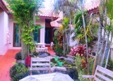 House for rent a large living area outdoor garden in a  good Village